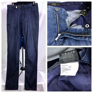 Brioni Meribel Blue Denim Jeans Sz 32x35 32